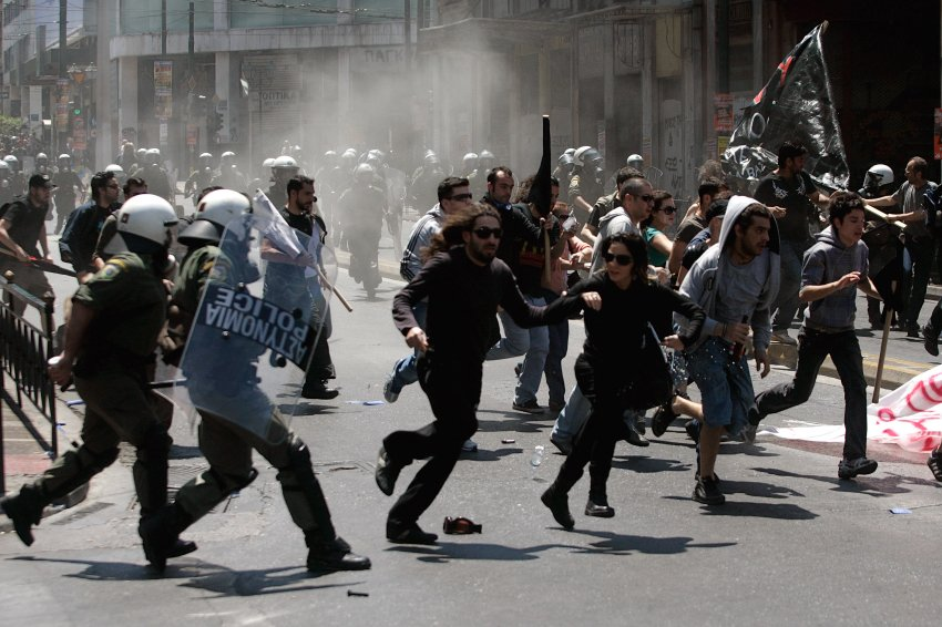 Greeks Protest Austerity Cuts In May Day Rallies